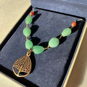 Lucky Brand necklace with tree pendant and beads